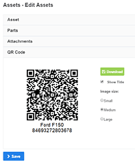 qr code asset equipment app
