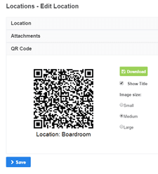 create location qr code