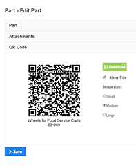 create part qr code